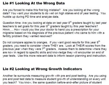 Data Lies Face the Three Lies Holding Your Low Scores Down and Fix Them