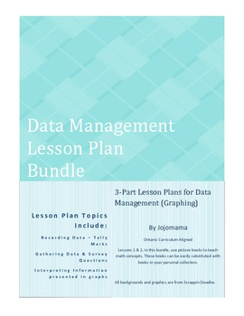 Data Management 3-Part Lesson Plan Bundle - Graphing Lessons