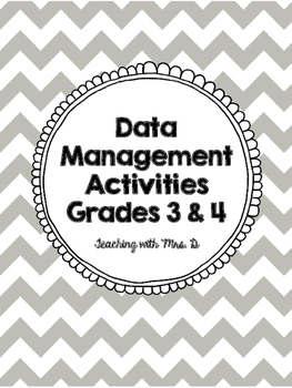 Data Management Activities Grade 3 and 4