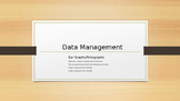 Data Management - Bar Graphs and Pictographs