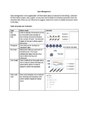 Data Management Graphic Organizer
