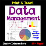 Data Management & Graphing Unit, Mean/Median/Mode/Range