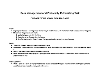 Data Management and Probability Mini Unit