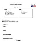 Data Meeting Agenda Outline