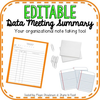 Data Meeting Notes