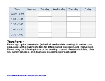 Data Meeting Sign-Up Form
