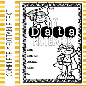 Editable Superhero Theme Data Notebook (PPT& Google Classroom) Distance Learning