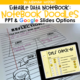 Data Notebook: 3rd Edition (EDITABLE) Notebook Doodles Theme