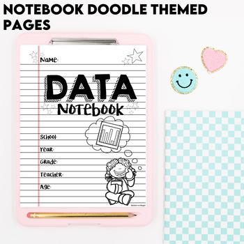 Data Notebook: 3rd Edition (EDITABLE) Notebook Doodles Theme