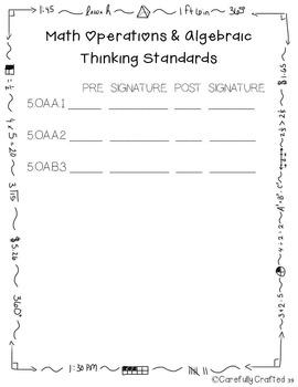 Data Notebook 5th Grade Math