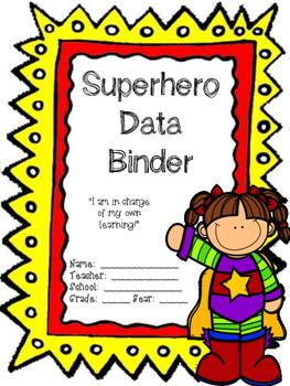 Editable Superhero Data Binder Cover