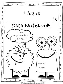 Data Notebook Cover Page FREEBIE By The Common Core