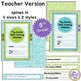 Data Notebook Cover Set for 5th Grade (Type Your Informati