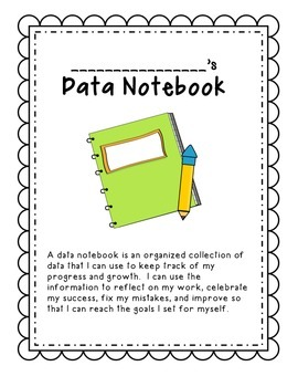 Data Notebook Cover and Smart Goals Sheet