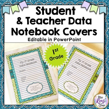 Data Notebook Cover Set {1st Grade}