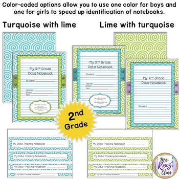 Student Data Notebook Covers  2nd Grade Plus Teacher Data Binder Covers