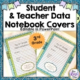 Data Notebook Covers, Backs and Spines for 3rd Grade - Editable Binder Covers