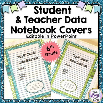 Data Notebook Covers for Students & Teachers - 6th Grade Binder Covers