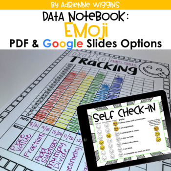 Emoji Theme Data Notebook (PDF & Google Classroom) Distance Learning