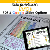 Emoji Theme Data Notebook (PDF & Google Classroom) Distanc