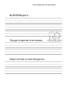 Data Notebook Goal Setting Pages