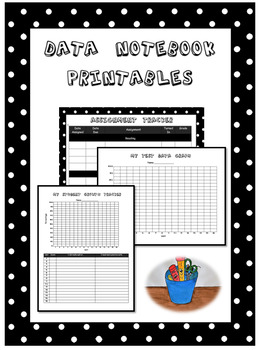 Data Notebook Printables - Test and Assignment Tracker