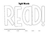Data Notebook Sight Word Recording Sheet