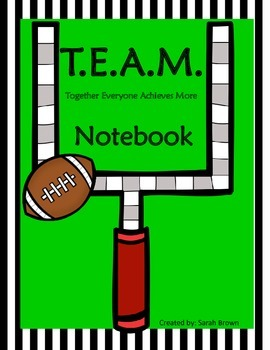 Data Notebook Sports Themed