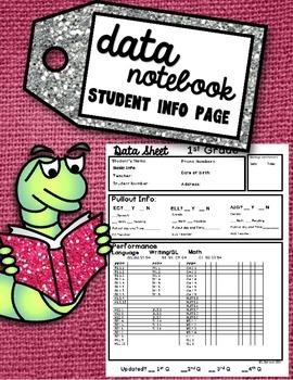 1st Grade Data Notebook Student Information