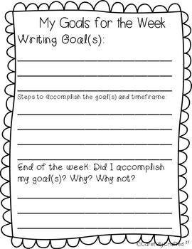 Data Notebook  3rd Grade Writing