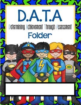 Superhero Data Notebook and Wall Display Packet