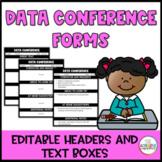 Data / Parent Teacher Conference Form: Editable