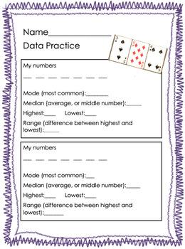 Data Practice- Median, Mode, Range