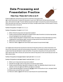 Data Processing and Presentation Practice Worksheet and Answer Key