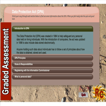 Interactive Data Protection Act Quiz