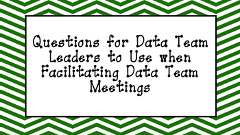 Data Questions for PLCs