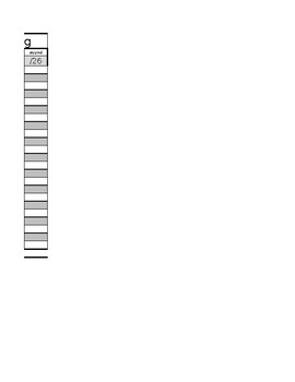 Data Recording Sheet fall winter spring DRA Alphabet and more editable