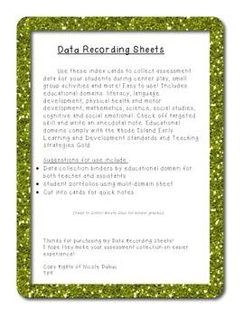 Data Recording Sheets