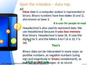 Data Representation - starter / plenary activity