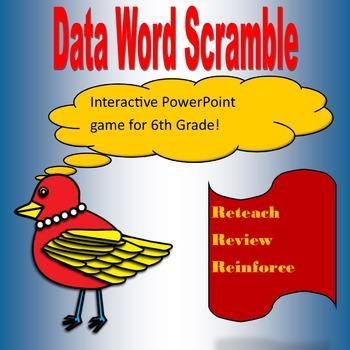 Data Review Word Scramble