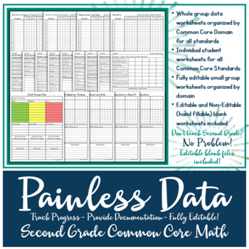 Data Tracking: Second Grade Common Core Math Standards
