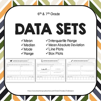Data Sets: Mean, Median, Mode, Range, Interquartile Range, Box Plots, Dot Plots