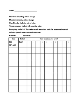Data Sheet - Counting Change