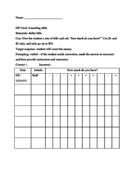 Data Sheet - Counting Mixed Bills