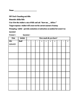 Data Sheet - Counting Out Bills