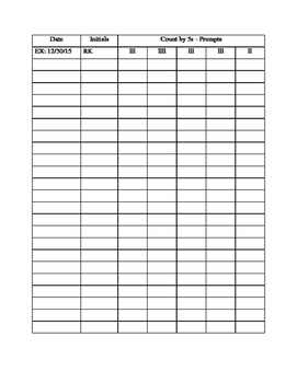 Data Sheet - Counting by 5s