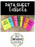 Data Sheet Labels