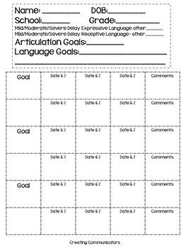 Data Sheet- Speech Therapy