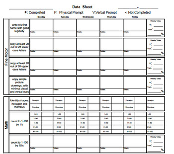 Data Sheet Template with Analysis...the last one you will ever need.