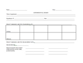 Data Sheet and Analysis for Science Experiments Experimental Design
